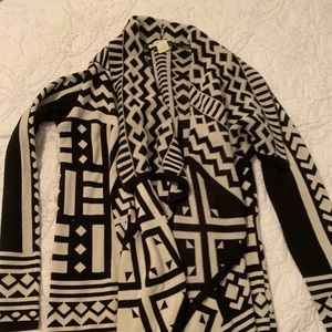 Black and white geometric sweater